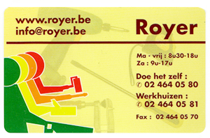 carte visite Royer